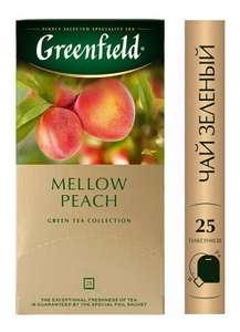 [Челябинск] Чай зеленый Greenfield Mellow Peach в пакетиках, 25 шт.