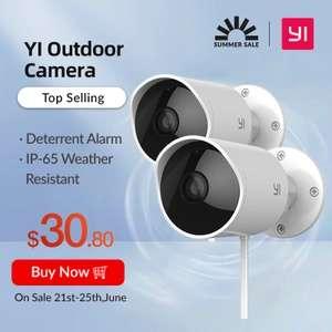 Камера наружного наблюдения YI 2 шт. (ip 65 wi fi)
