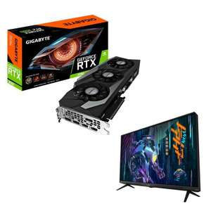 """Набор видеокарта Gigabyte GeForce RTX 3090 Gaming OC 24G + LCD Монитор 43"""" Gigabyte aorus fv43u-ek"""