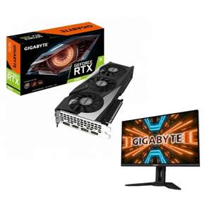 """Набор Видеокарта Gigabyte GeForce RTX 3060 Gaming OC 12GD и LCD Монитор 34"""" Gigabyte M32Q-EK"""