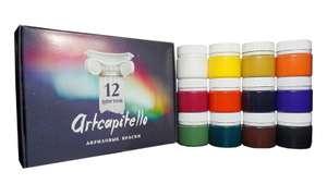 Краски акриловые, набор 12 цветов по 20 мл, ARTCAPITELLO