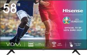 "Телевизор Hisense 58AE7000F 57.5"", 4K, SmartTV"