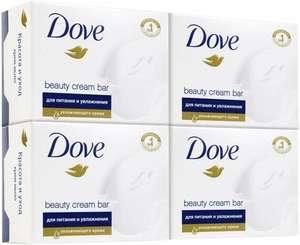 Dove мультипак бессульфатное крем-мыло Красота и уход 4х100 гр (33₽ за 1 шт)