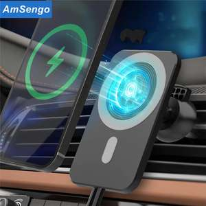 Магнитный держатель для телефона с беспроводной зарядкой в автомобиль