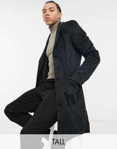 Черное пальто из ткани с добавлением шерсти Another Influence Tall