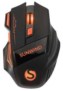 Мышь беспроводная SUNWIND SW-M715GW (1600 DPI, оптическая, 7 кнопок) на Tmall