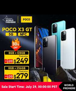 Смартфон POCO X3 GT 8/128 Gb (премьера 29.07.21)