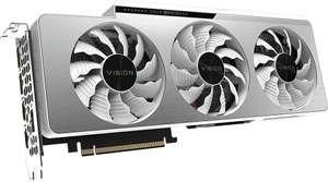 Видеокарта Gigabyte NVIDIA GeForce RTX 3060, GV-N3060VISION OC-12GD 2.0 LHR, 12ГБ, GDDR6, OC, LHR, Ret