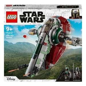 Скидка на новые наборы LEGO Star wars (напр. конструктор LEGO Star Wars 75312 Звездолет Бобы Фетта)