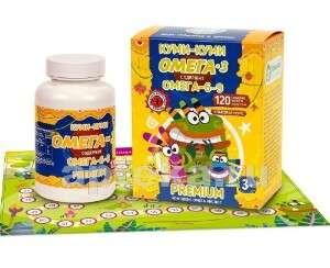 Тюлений жир ОМЕГА-3-6-9 для Детей