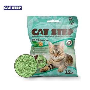 Комкующийся наполнитель Cat Step Tofu Green Tea растительный, 12 л