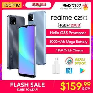 Realme C25s 4+128 GB (IPS, NFC, MediaTek G85, 6000 mAh, Type-C)