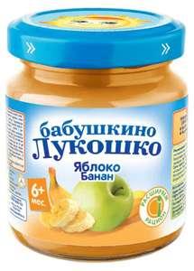 Пюре «Бабушкино Лукошко» яблоко банан с 6 мес, 100 г