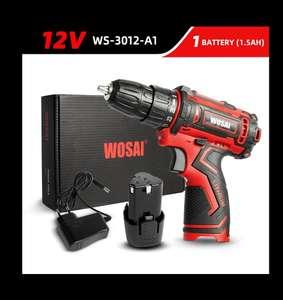 Электродрель аккумуляторная (шуруповёрт) WOSAI 12В WS-3012-A1