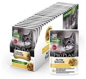 Влажный корм для стерилизованных кошек Pro Plan Nutrisavour, с курицей 26 шт. х 85 г (кусочки в соусе)