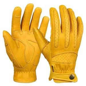 Кожаные мотоциклетные перчатки OZERO