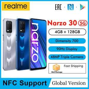 Смартфон Realme narzo 30 5G NFC 4/128 Silver Dimensity 700