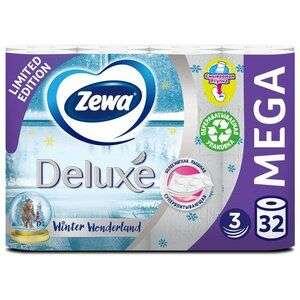 Туалетная бумага Zewa Deluxe трёхслойная 32 рул. (18.25₽ за рулон) см. описание