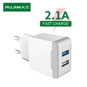 Зарядное устройство PUJIMAX с 2 USB-портами и евровилкой