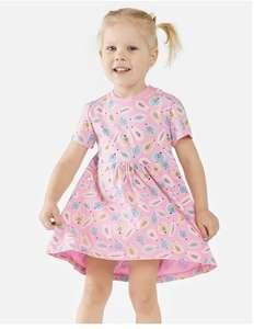 Платье Моя Горошинка розовое