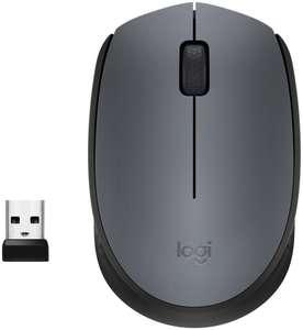 Мышь LOGITECH M170, оптическая, беспроводная, USB, серый и черный