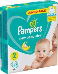 Подгузники Pampers New Baby-Dry 4–8 кг, размер 2, 94шт. на Tmall