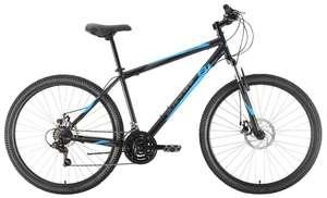 """Велосипед BLACK ONE Onix 27.5 D 2021 чёрный/синий/серый 20"""""""