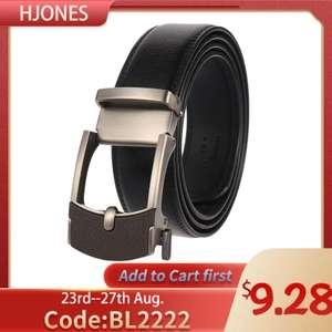 Ремень мужской кожаный с автоматической пряжкой HJones