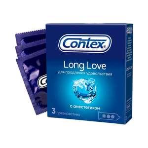 Презервативы CONTEX Long Love (с анестетиком для продления удовольствия) №3 на Tmall