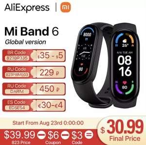 Фитнес браслет Xiaomi Mi Band 6 Global version