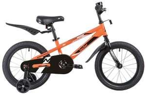 Детский велосипед Novatrack Juster 16 (2020) оранжевый
