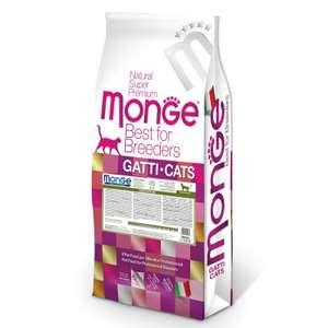 Корм для кошек Monge Cat Sensitive с чувствительным пищеварением, 10 кг