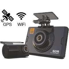 Видеорегистратор автомобильный Gnet GDR+WI-FI+GPS (2 камеры, Корея)