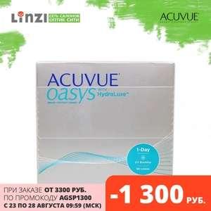 Контактные линзы Acuvue Oasys 1-Day HydraLuxe® 90 шт