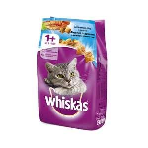 Whiskas корм для взрослых кошек всех пород, подушечки с паштетом из лосося 5 кг
