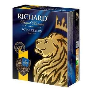 Чай Richard Royal Ceylon 100 пакетиков 3 упаковки (123.3₽ за 1 упаковку) на Tmall