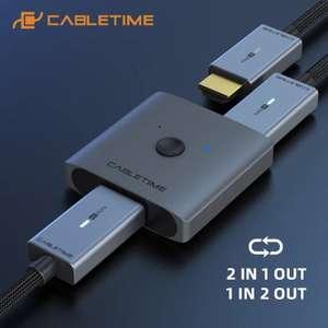Разветвитель CABLETIME HDMI, 4K, 60 Гц