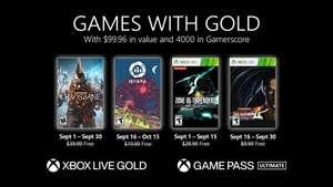 Бесплатные игры сентября для подписчиков Xbox Live Gold