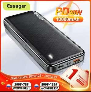 Внешний аккумулятор Essager PD 20 Вт 10000 мАч