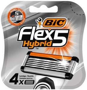 [Пермь] Картриджи для бритвы BIC FLEX5 Hybrid 4 шт