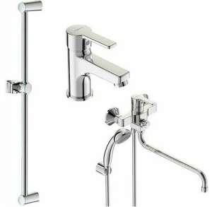 VIDIMA Набор смесителей (для умывальника BA234AA, для ванны/душа 320 мм BA240AA, штанга BA196AA)