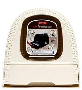 Curver PetLife туалет-домик для кошек, кремово-коричневый, 51x39x40 см