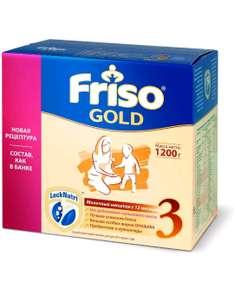 Молочная смесь Friso Gold 3, с пребиотиками, с 12 месяцев, 1,2 кг