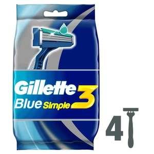 Одноразовая мужская бритва Gillette Blue Simple3 4 шт. на Tmall