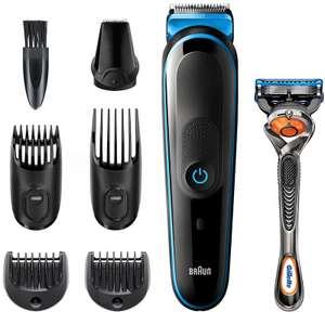 Триммер Braun MGK 3245 + Бритва Gillette + 1 кас черный/синий