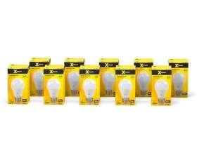 Лампочка X-Flash XF-E27-A60-10W-3000K-230V, 10 штук, Теплый белый свет, E27, 10 Вт