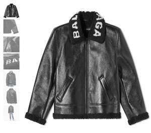 Куртка BALENCIAGA COLLAR LOGO SHEARLING JACKET (М)