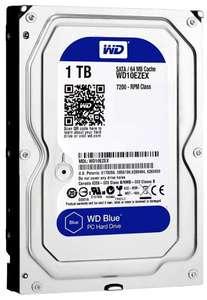 Жесткий диск 1 TB HDD 7200 об/мин WD Blue WD10EZEX х 3 шт. (1980₽ за 1 шт)