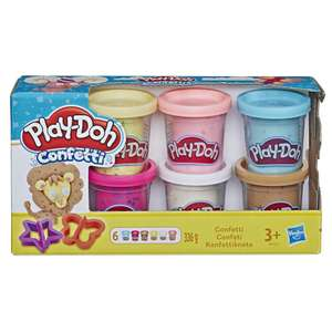 Подборка игрушек на Tmall Супермаркет (напр, набор для лепки Play-Doh 6 банок с конфетти B3423EU6)