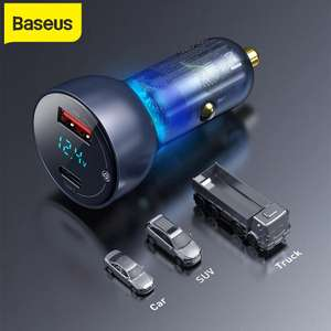 Автомобильная зарядка BASEUS 65W (USB-C, USB-A)